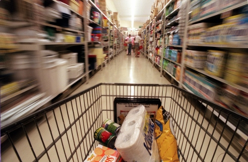 Supermarket in Romania