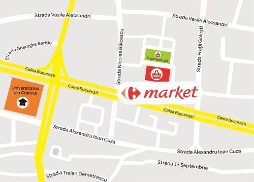Market Craiova Piata Centrala_harta