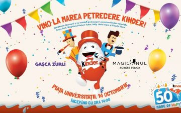 Kinder sărbătorește duminică 50 de ani, în Piața Universității