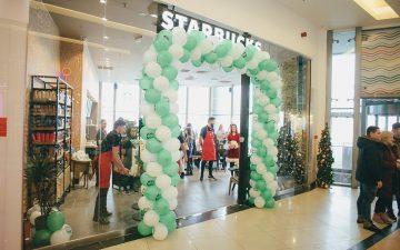 Cafenea Starbucks în mall-ul din Baia Mare
